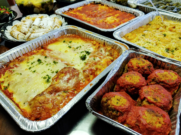 Baked pasta and meatballs family meals to go by Michelle