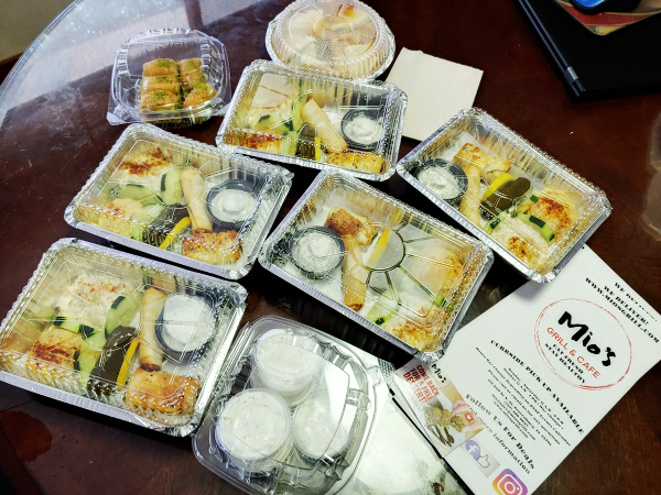 Mios food samples for Takeout Button radio show